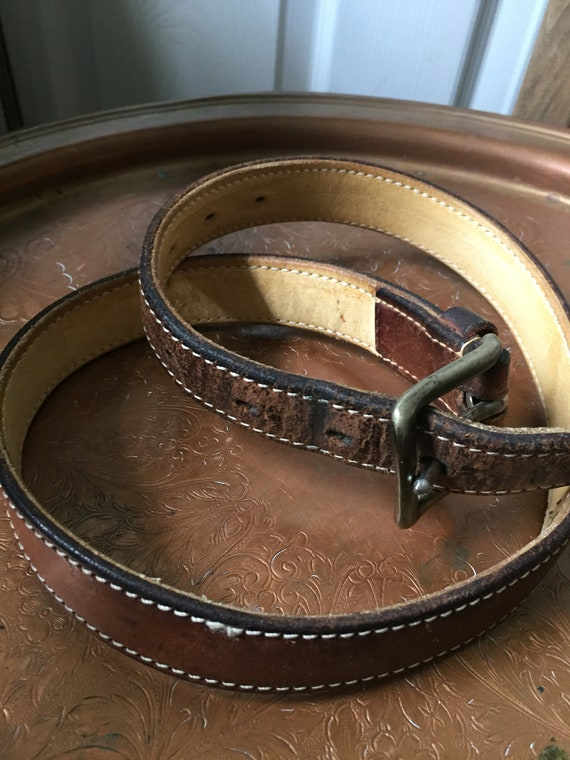 Ralph Lauren Leather Belt '80s - image 1