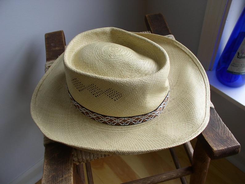 23fc4bf78deeb Vintage Stetson Panama Straw Cowboy Hat