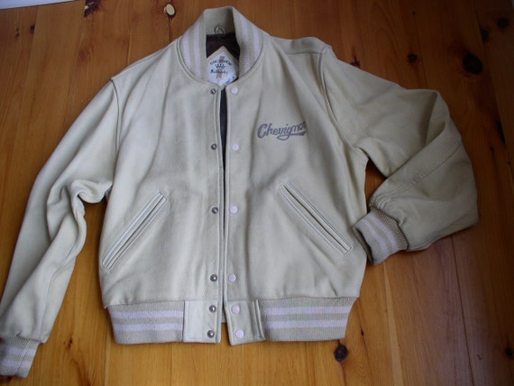 Chevignon Men's Leather  Bomber Style Jacket 1980'