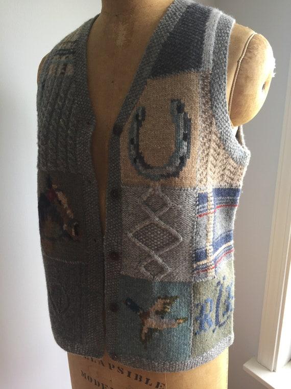 Vintage 80's Ralph Lauren Wool Vest - image 4