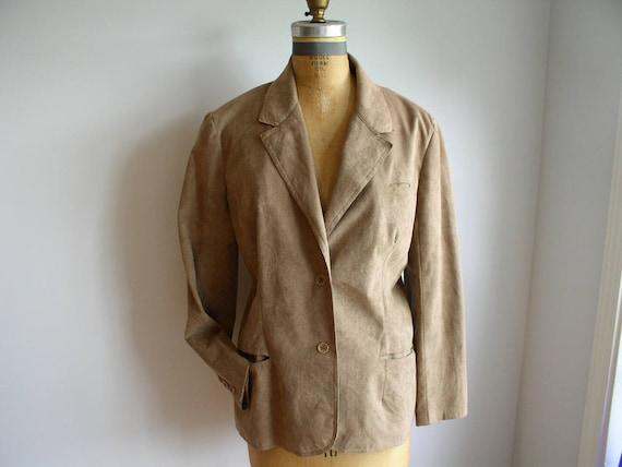 Designer Stephen Burrows 70's Ultra Suede Jacket