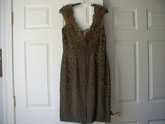 Silk chiffon beaded formal dress - image 2