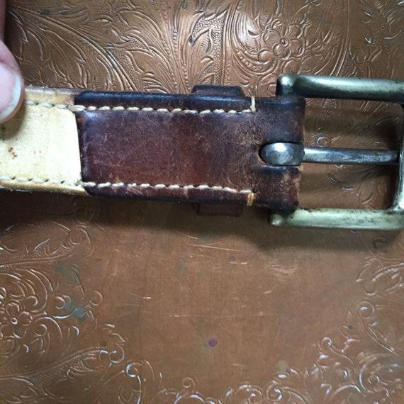 Ralph Lauren Leather Belt '80s - image 4