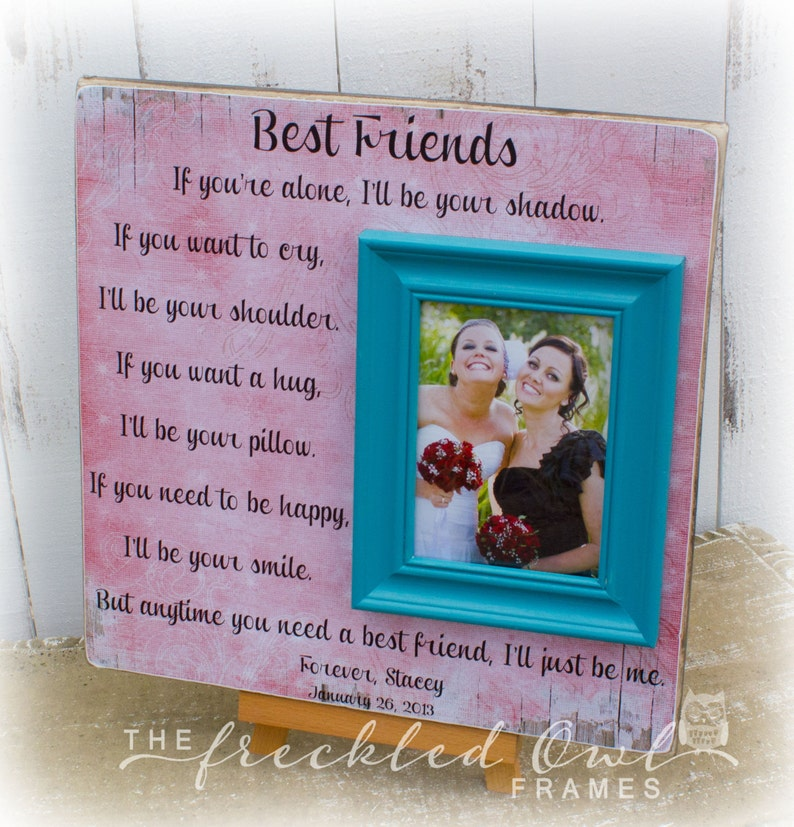 69083c8717b5 Best Friends Personalized Picture Frame Sister Maid of Honor | Etsy
