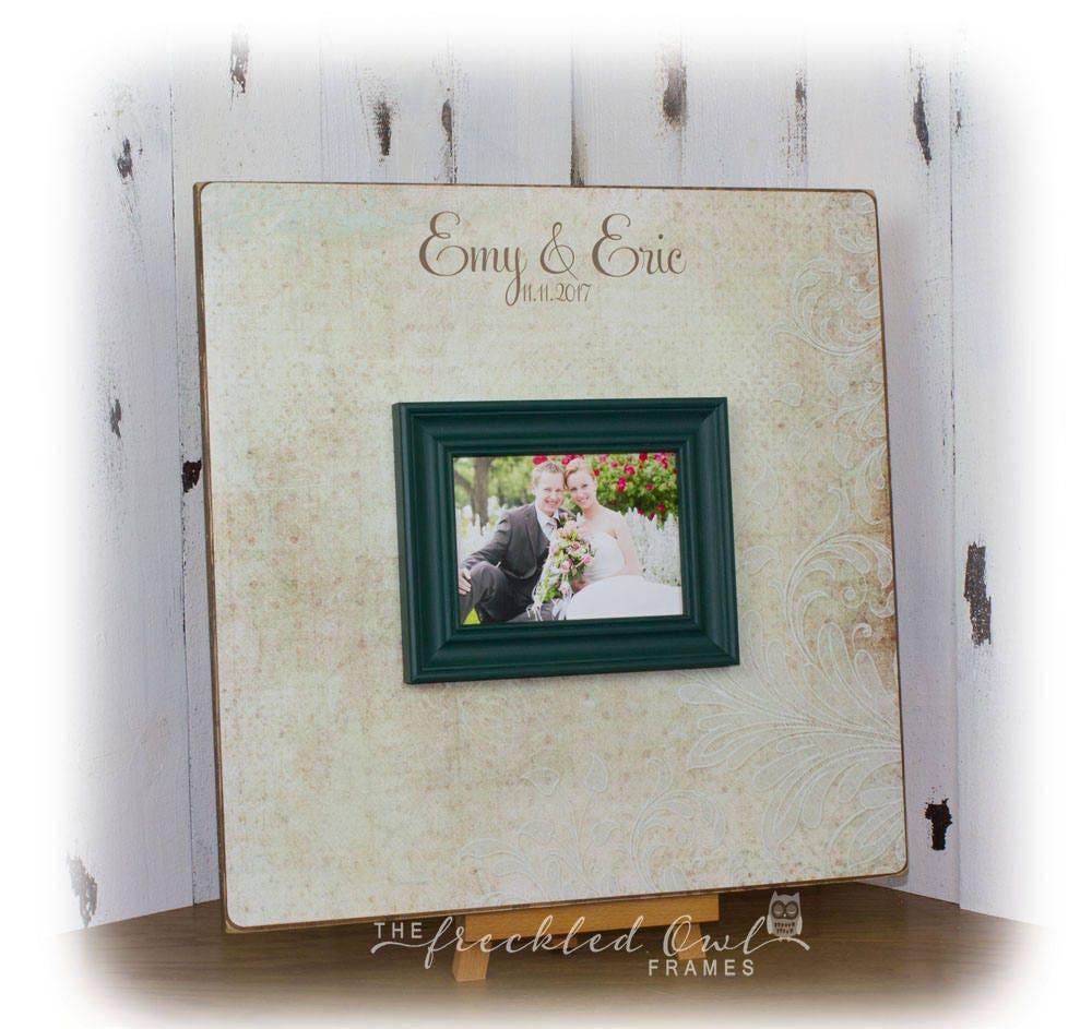 La boda alternativa de libro de visitas firma boda marco | Etsy