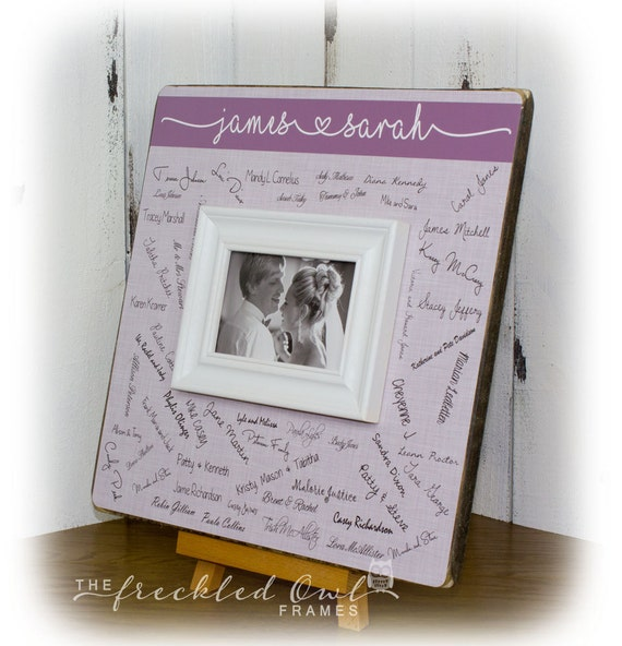 Wedding Guest Book Alternative Wedding Signature Frame | Etsy