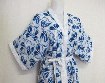 4a08d55d4 Kimono Robe Short Kimono Housecoat Housedress Lily of France