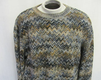 645987884c5b MISSONI Sweater Zig Zag Wool Sweater Pattern Sweater Multicolor Sweater  Pullover