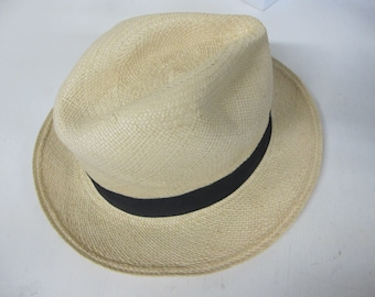 e069acb6f51341 Panama Hat Fedora Ecuador Montecristi Straw Hat