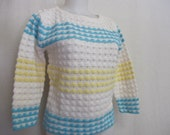 Mrs Maisel 1960 39 s Orlon Sweater Summer Sweater Crochet Stripes Cropped
