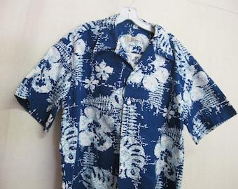 1e8e369ac Hawaiian Barkcloth Shirt Reyn Spooner Hawaiian Traditionals Shirt