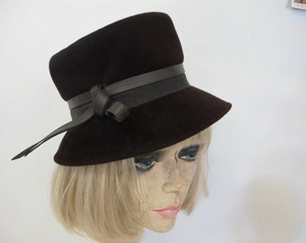 37c23cfd Mrs Maisel Bucket Hat Brown Wool Hat Mad Men Winter Hat Evelyn Varon