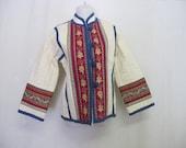 Quilted Jacket Artisan OOAK Peasant Jacket Tapestry Asian Boho Jacket NEW