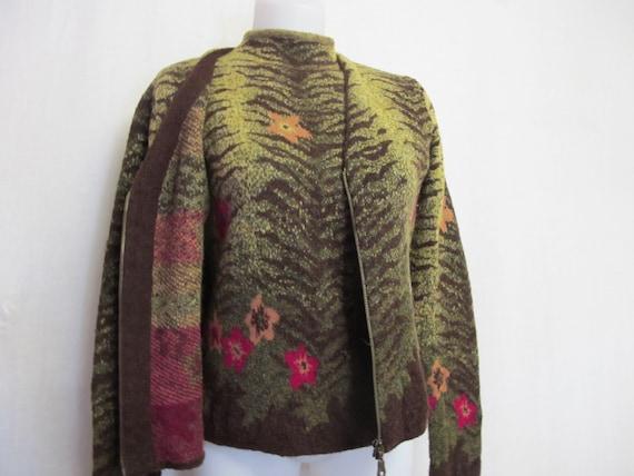Cardigan Sweater Set Italian Designer Sweater Set