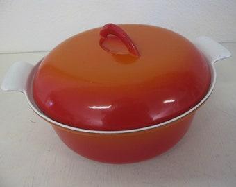 Descoware Casserole Enamel Cookware Orange Enamel Pot Cast Iron