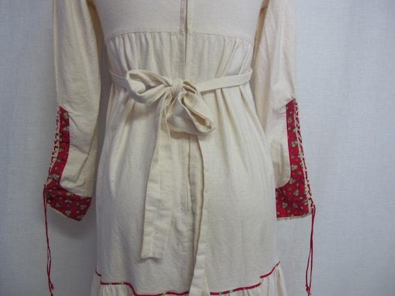 Prairie Dress Steampunk Dress  1960s Hippie Dress… - image 7