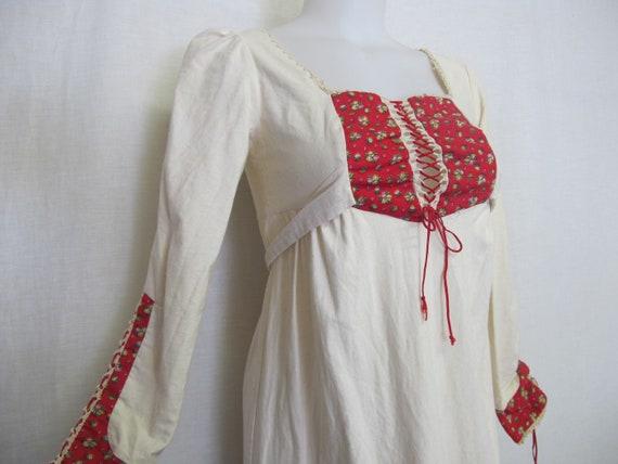 Prairie Dress Steampunk Dress  1960s Hippie Dress… - image 4
