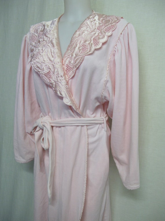 Plush Robe Pink Robe Embroidered Robe 1980 Robe Sa
