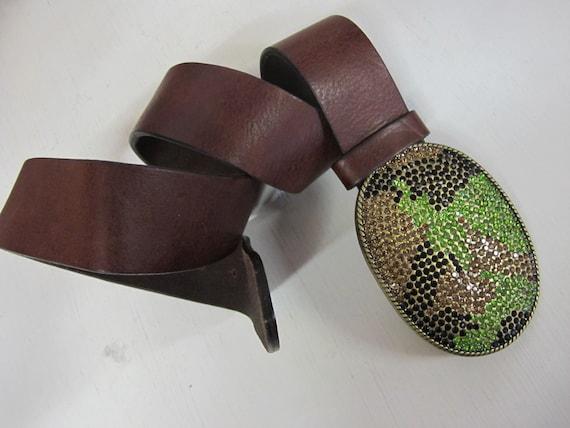 Boho Belt Hippie Belt Brass Buckle Boho Belt 1980'