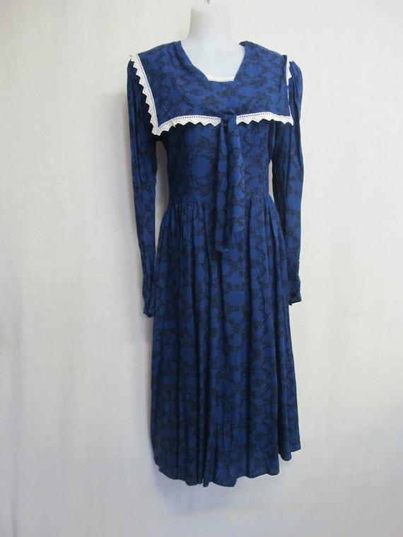 Gunne Sax Prairie Dress Steampunk Dress Pioneer - image 2