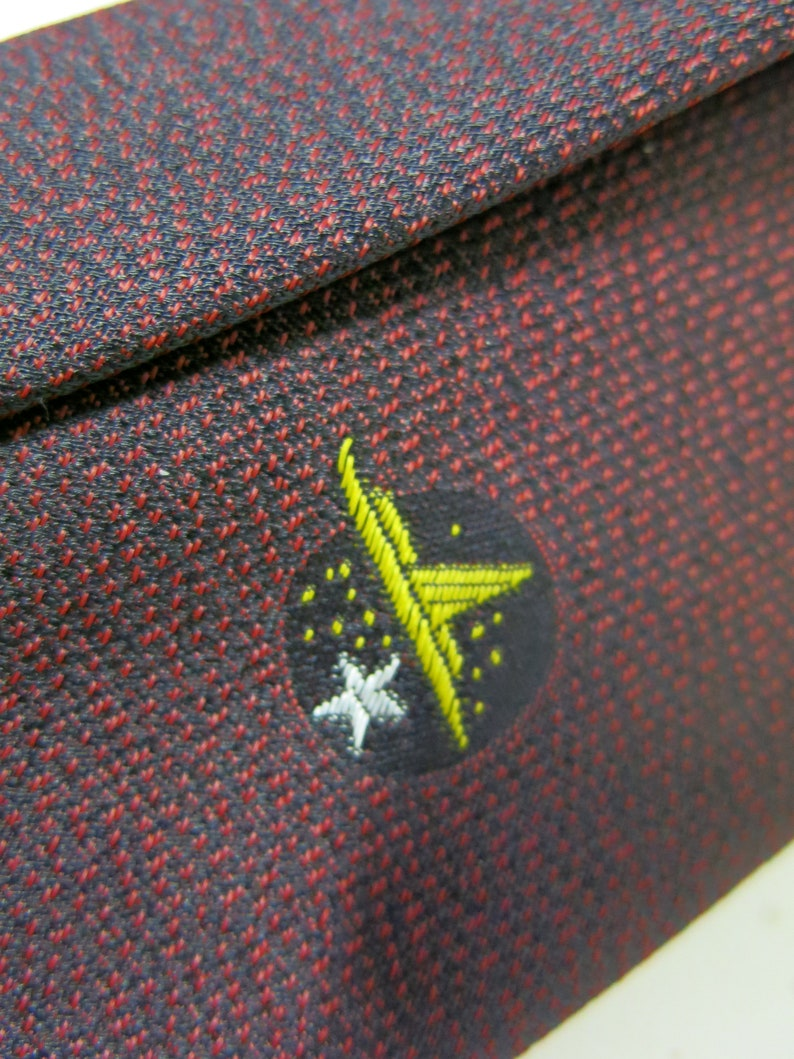 Atomic Art Deco Skinny Tie Space Ship UFO 1940s Eames Tie Rockabilly