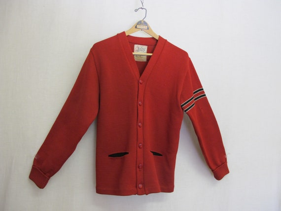 1950s Varsity Sweater Whiting Letterman Sweater Re