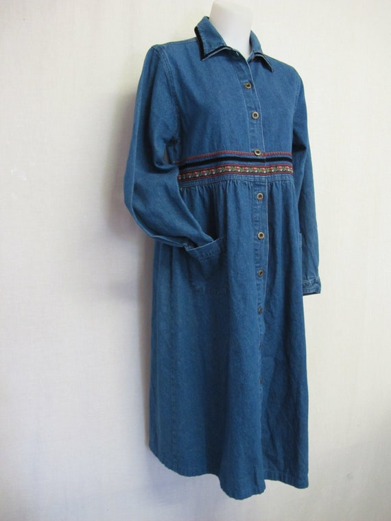 Prairie Dress Denim Cotton Dress Jean Dress Farm G