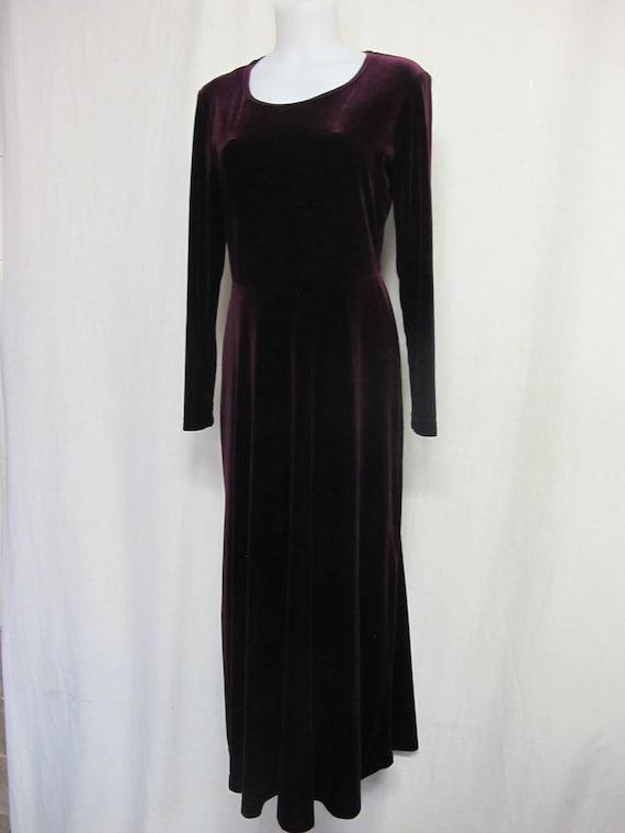 Goth Velvet Dress Maxi Dress Burgundy Velvet Dress