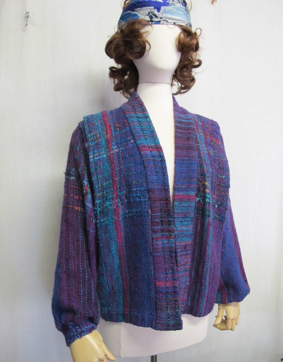 Handwoven Jacket Tapestry  Boho Jacket Artisan OOA