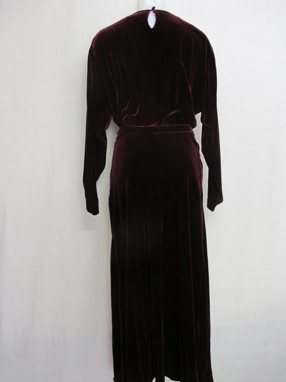 Goth Velvet Dress Maxi  Burgundy Velvet Dress Boh… - image 5