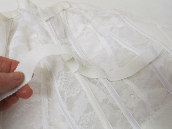 White Bustier Strapless Bra Merry Widow Wynette V… - image 8
