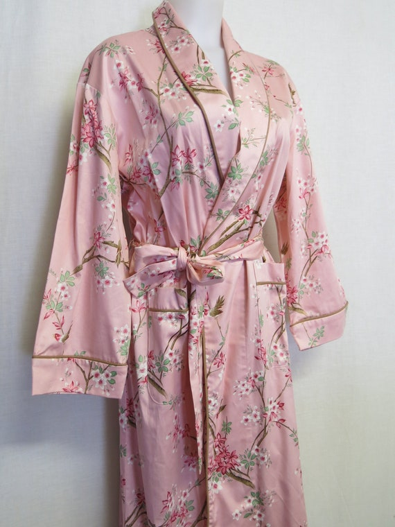 Cotton Robe Pink Floral Robe Summer Robe House Coa