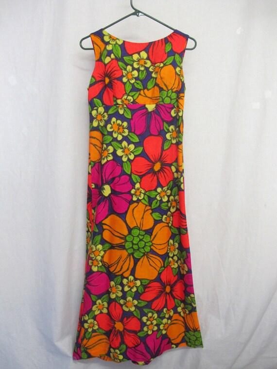 Barkcloth Hawaiian Dress Ti'a Hawaii Dress Vacatio
