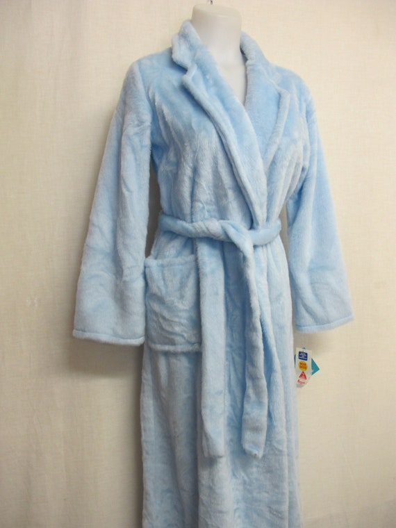 Mad Men Robe Fleece Robe Plush Robe Blue Robe SEAR