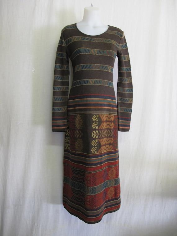 Peruvian Connection Sweater Dress Pima Cotton Knit
