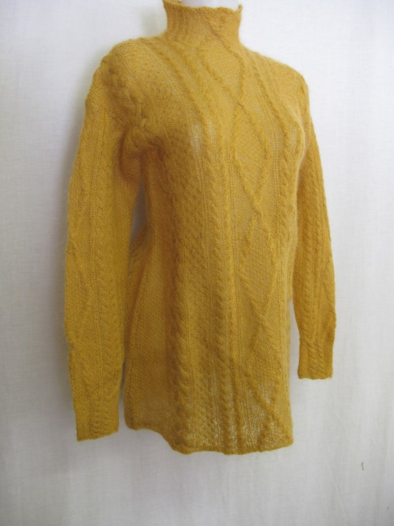 Mohair Sweater Turtleneck Tunic Sweater Fuzzy Must