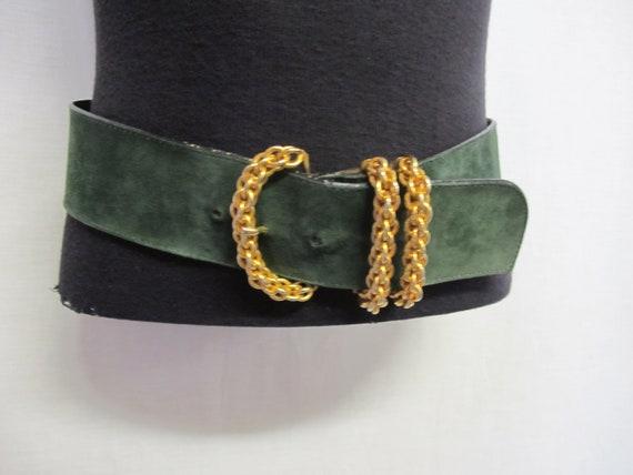 Wide Suede Belt Paloma Picasso Belt Designer Belt