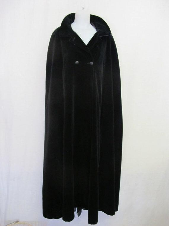 Goth Black Velvet Cape Velvet Coat Wrap Opera Coat