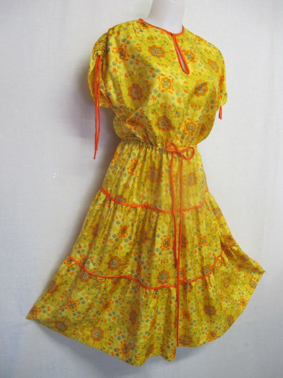 Silk Boho Dress Peasant Dress Party Dress