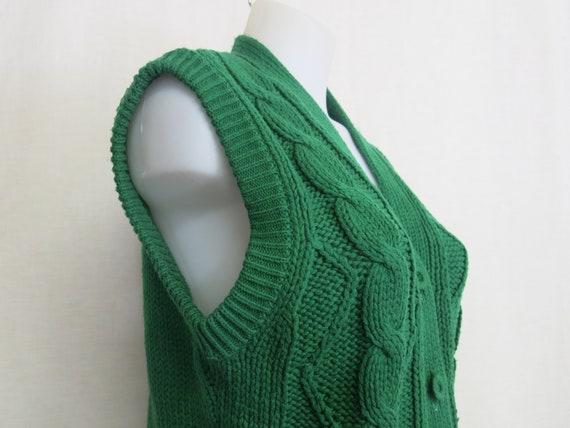 Vintage Handmade Cardigan Sweater Vest Knit Vest … - image 5