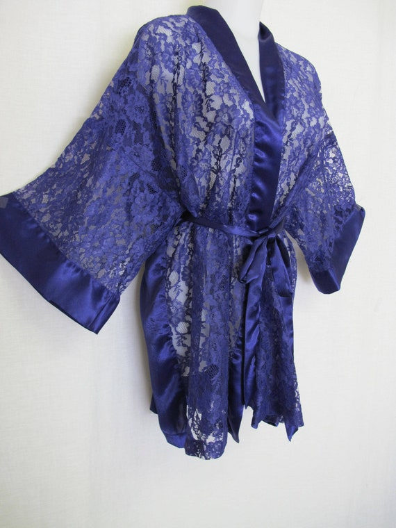 Victoria\'s Secret Robe Dressing Gown Lace Robe Satin Robe | Etsy