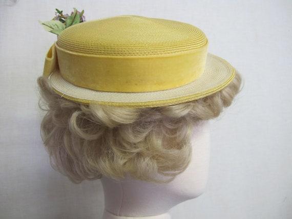 Summer Straw Hat 1960s Mrs Maisel straw Summer Ha… - image 4