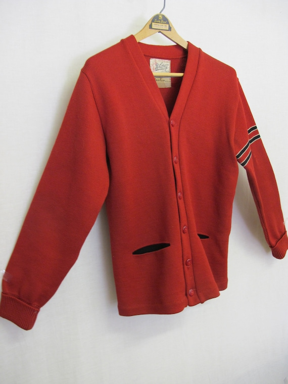 1950s Varsity Sweater Whiting Letterman Sweater R… - image 2