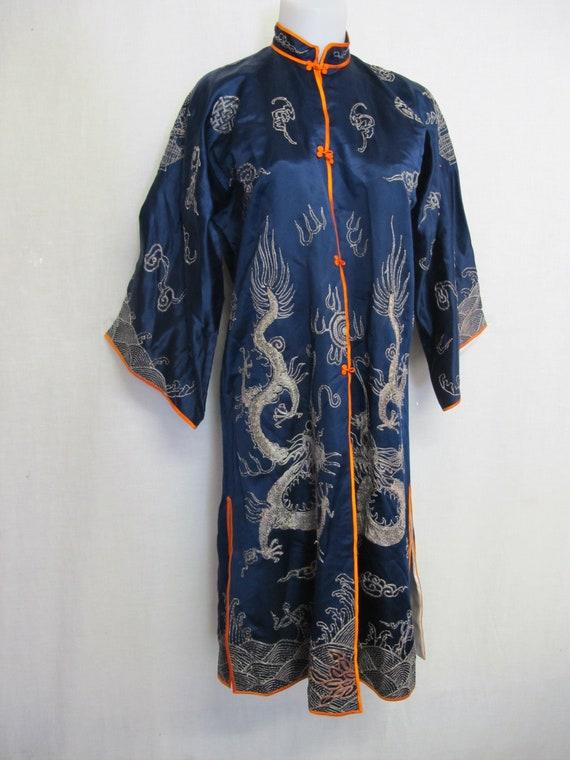 Antique Chinese Silk Kimono Embroidered Kimono Rob
