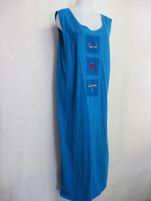 Cotton Maxi Dress Sleeveless Dress Boho Dress XL