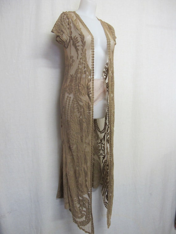 Lace Robe Cover Up Mocha Lace Jacket Lace Peignoir