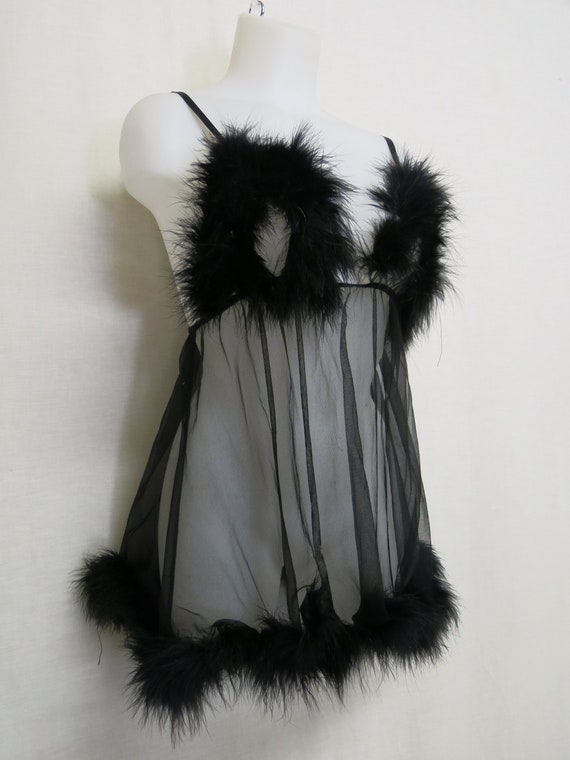Feather Nightgown Frederick's of Hollywood Feather
