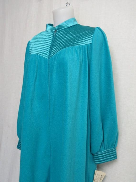 Velour Kaftan Velvet Plush Robe Front Zip Robe JC
