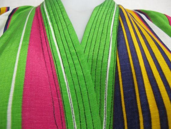 Vintage Silk Kaftan Robe Kimono Style Robe Chapan… - image 9