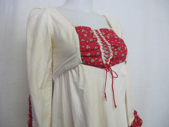 Prairie Dress Steampunk Dress  1960s Hippie Dress… - image 6